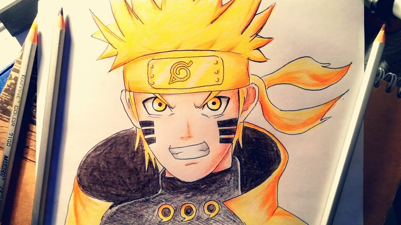 Vẽ Naruto || HOW TO DRAW NARUTO || Mylife Easy!!