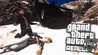 Реальная Жизнь в GTA 5 - Серега разбился на машине!
