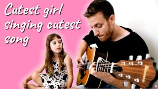 """Cutest girl singing my song """"Mostly all the time"""""""
