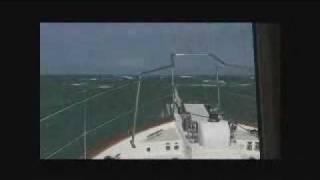 Fort Pierce Inlet Departure in Rough Seas Aboard a Krogen 58'