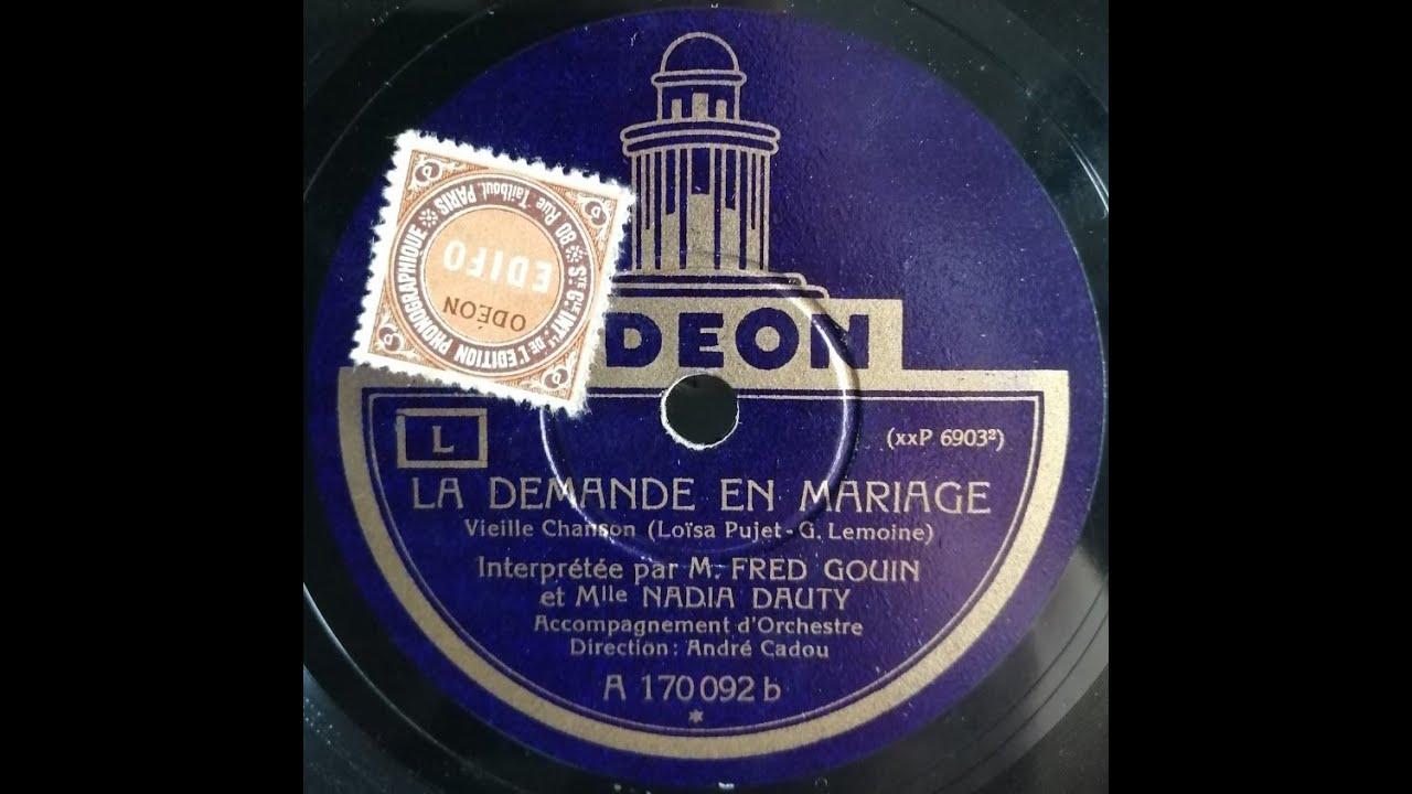 Nadia Dauty Et Fred Gouin La Demande En Mariage 1929 Youtube