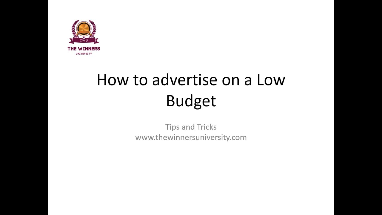 Tips & Hacks to promote your Business on a Low Budget