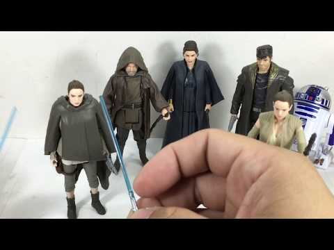 Star Wars Last Jedi Luke Jedi Exile, Rey, General Leia Organa, DJ, R2 D2 Chefatron Toy Review