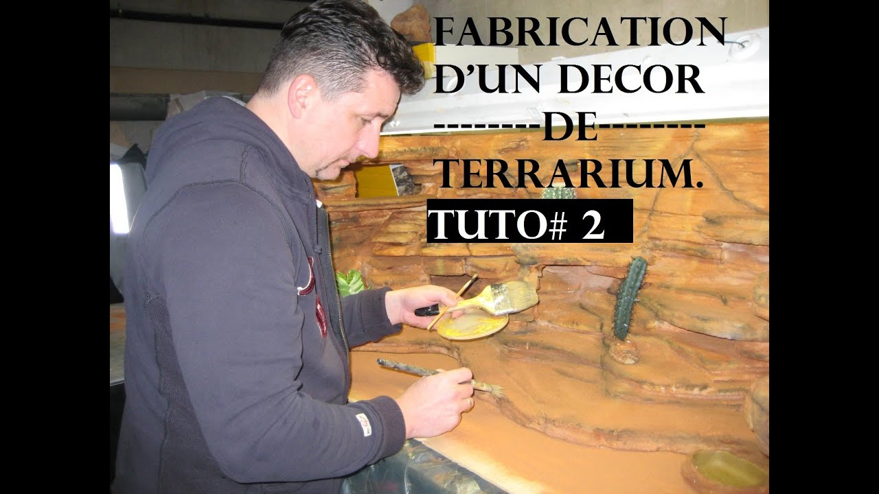 tuto 2 d cor d sertique pour pogona youtube. Black Bedroom Furniture Sets. Home Design Ideas