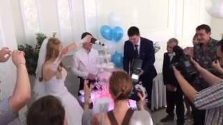 Горка шампанского на свадьбу в спб