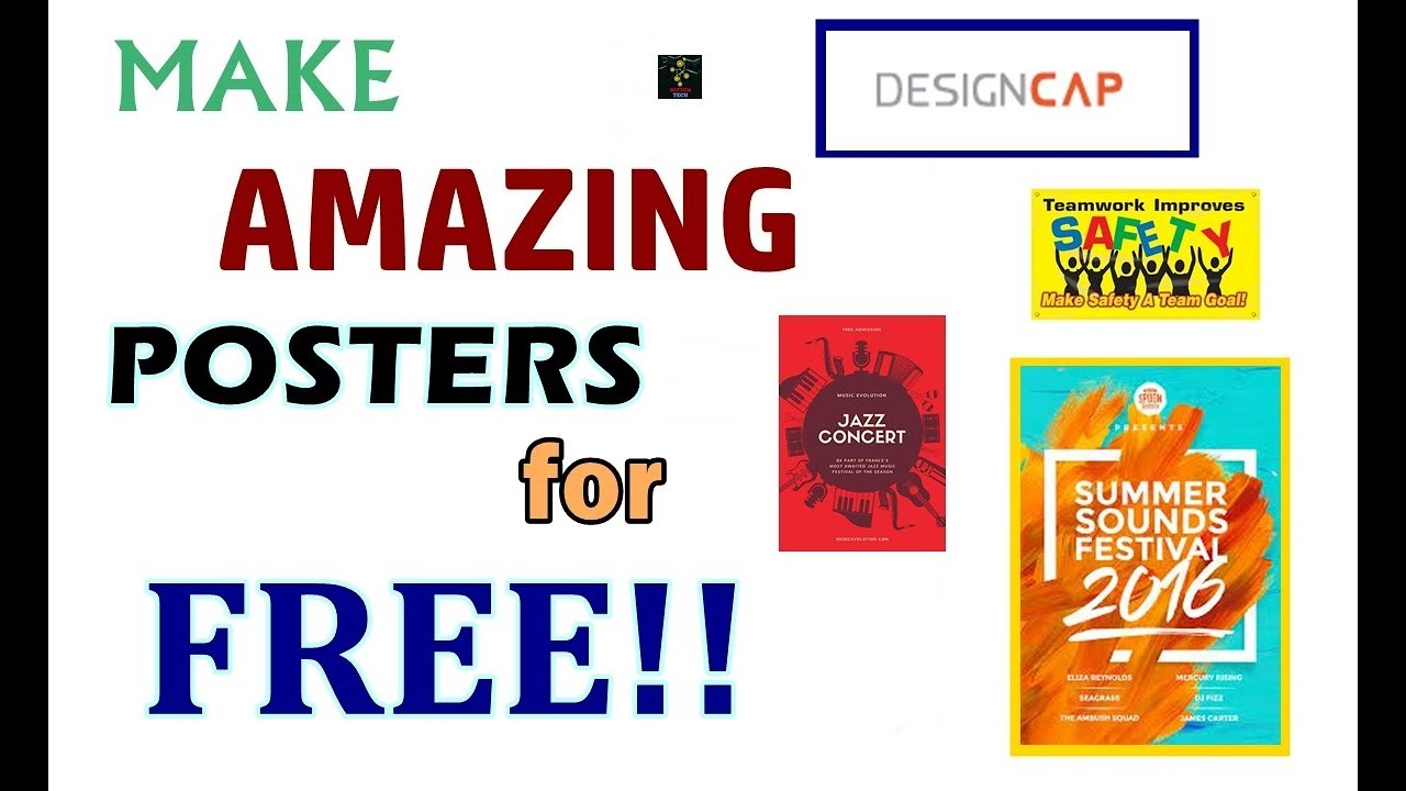 how to make professional and artistic posters for free