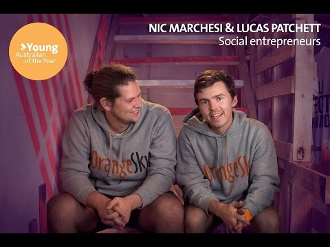 Nic Marchesi and Lucas Patchett - 2016 Young Australian of the Year
