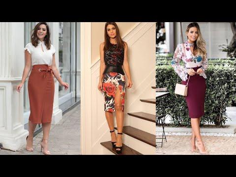 MODA 2020 ELEGANTE Y FINA PARA MUJERES / Combinaciones De Moda Con Falda / Fashion Love