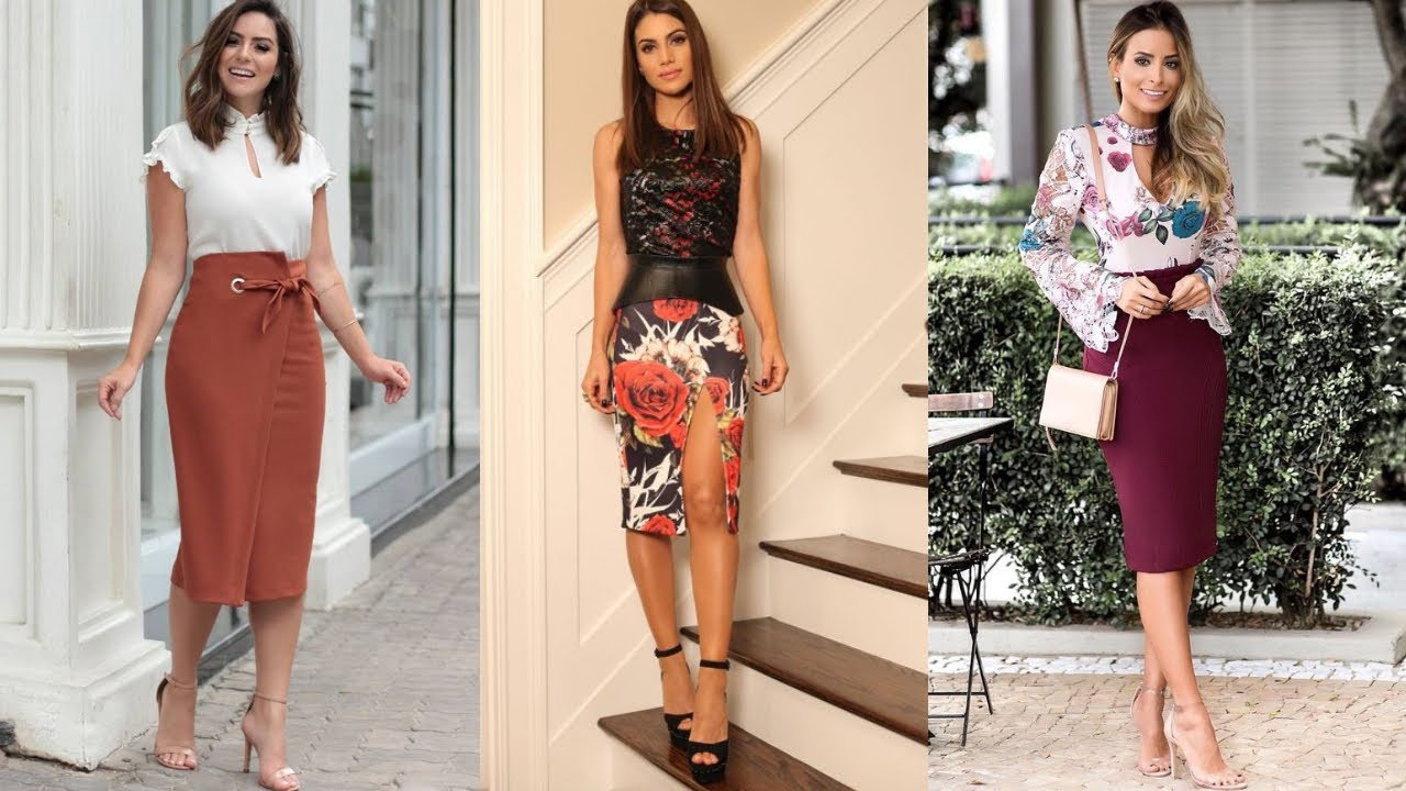 Moda 2020 Elegante Y Fina Para Mujeres Combinaciones De Moda Con Falda Fashion Love Youtube