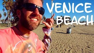 A Radical Tour of VENICE BEACH: Cool California Beach Scene