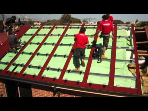 Stratco Solatile Re-Roofing Installation | Roof Integrated Solar Panels
