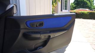 DIY Custom Fabric on Impreza GC8 Door Panels