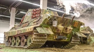 RC Military Machines ULTRA HEAVY! 1/4 scale Tank! 600 kilograms!