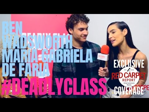 Interview with SyFy's Deadly Class cast: Ben Wadsworth & Maria Gabriela de Faria