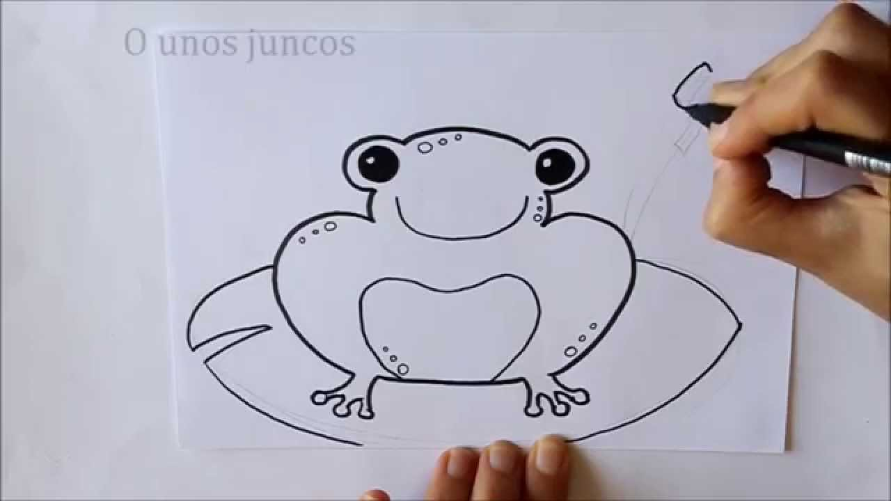 Cmo dibujar una Rana Dibuja Conmigo Dibujos de Animales  YouTube