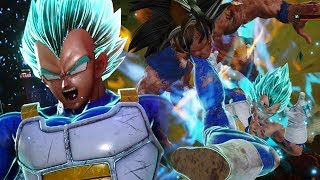 awakening vegeta to super saiyan blue jump force open beta super saiyan blue vegeta gameplay