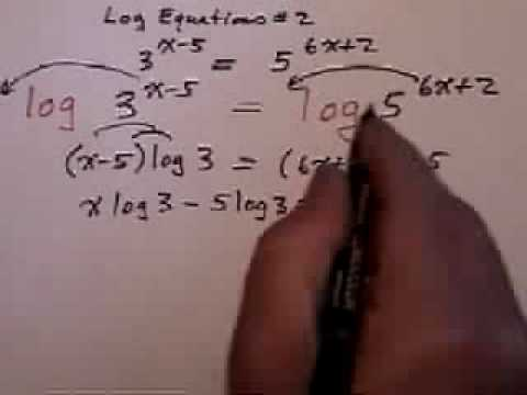 Exponential Equations With Different Bases Part 2 Youtube