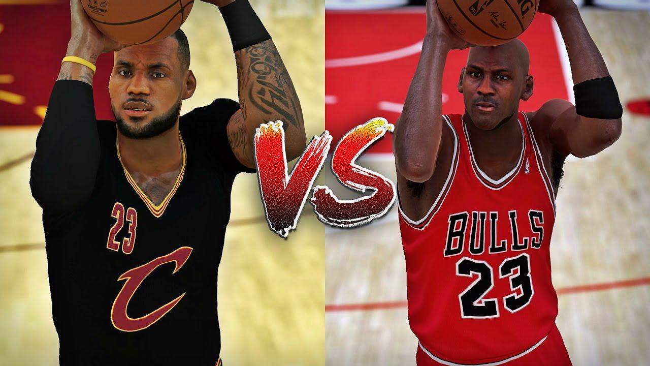 1f1c72ee8d30 LeBron James vs Michael Jordan - Half Court Challenge - YouTube
