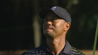 Tiger Woods burns edge of cup on approach at Hero World Challenge