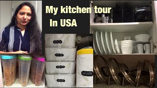 USA kitchen organization ideas in Telugu | kitchen tour | Telugu vlogs