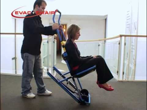 evacuation chairs model 300h mk4 slim fold high chair official evac training video youtube
