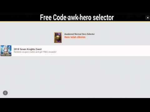 Seven Knights - Code Coupons Awaken hero selector