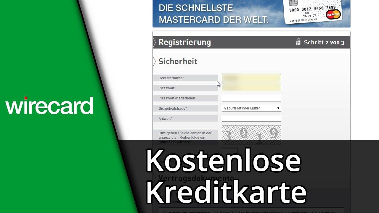 Wirecard Tutorial  Kostenlose Kreditkarte / Ohne SCHUFA  Ausweis [Deutsch/HD]  YouTube