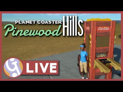 🔴 Popcorn Cart | Pinewood Hills | Let's Play Planet Coaster LIVE!