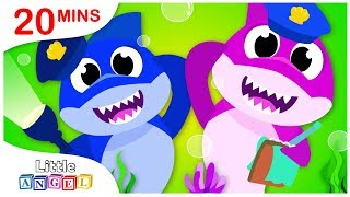 Police Sharks, Baby Shark to the Rescue, No No Safety Tips, Princess Songs by Little Angel