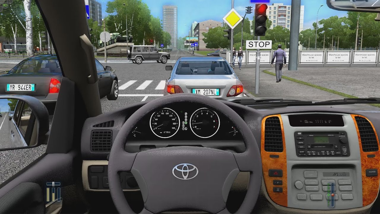 City Car Driving Toyota Land Cruiser 100 Fast Driving