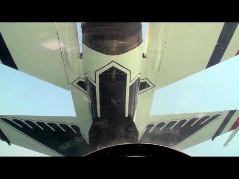 ThunderBirds onboard camera in the formation