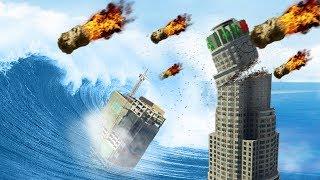 GTA 5 - The BIGGEST Meteor Shower & Tsunami!