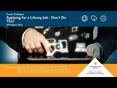 Applying for a Library Job - Don't Do This!