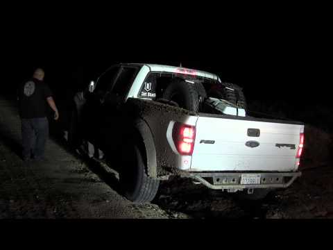 Ford Raptor - Mojave Desert - Almost gets swallowed by a wash out
