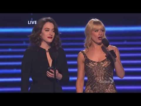 [HD] Kat Dennings & Beth Behrs: Wrecking Ball, Baby Got Back  @ People's Choice Awards