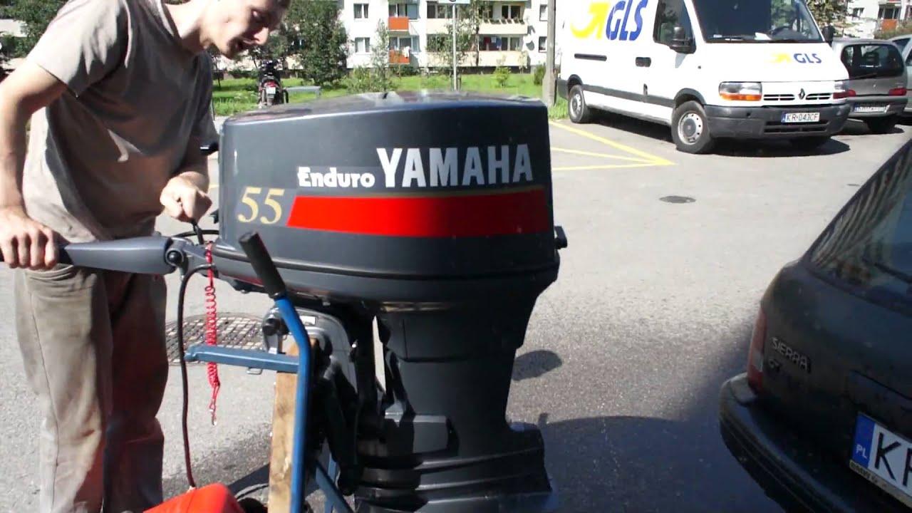 Yamaha two stroke enduro e55 cmhs youtube for Yamaha enduro 40 hp outboard