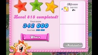 Candy Crush Saga Level 815   ★★★   NO BOOSTER