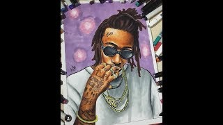wiz khalifa drawing  ( copicmarkers)
