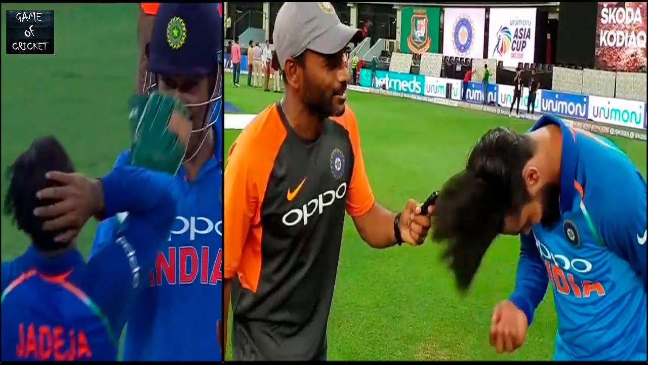asia cup 2018: jadeja reveals secret behind his haircut teases new hairdo