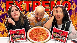 EXTREME SPICY NOODLE CHALLENGE - FT CAROLINA DIAZ BADABUN - LOS RULES