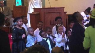 Children's choir. First Baptist Church of Guilford. Pay attention to the little boy at the end! 😂😂