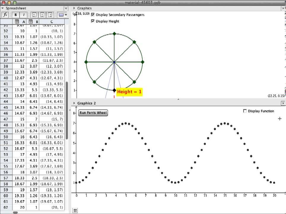 Eleventh grade Lesson Ferris Wheels and Trigonometry