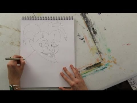 Joker Scribble Drawing : How to draw a joker s mask art projects youtube