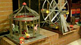 Operating Erector Sets - Parachute Jump, Merry-Go-Round, Ferris Wheel