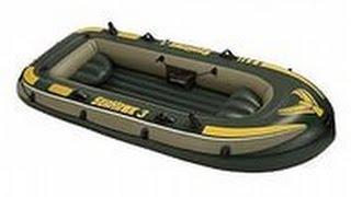 Обзор надувной лодки Seahawk 3 Intex на воде.(Часть 1).