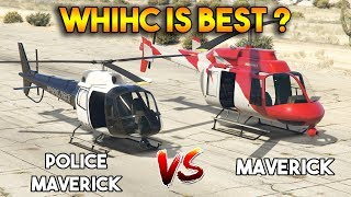 GTA 5 ONLINE : MAVERICK vs POLICE MAVERICK (WHICH IS BEST?)