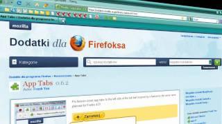 jak otwarte karty zmieniać w ikony w programie Mozilla Firefox
