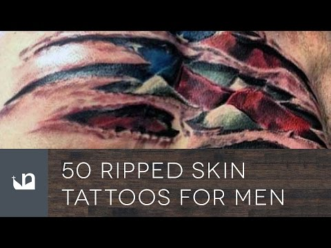 50 Ripped Skin Tattoos For Men