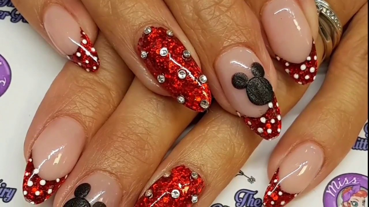 Disney Acrylic Nails Youtube