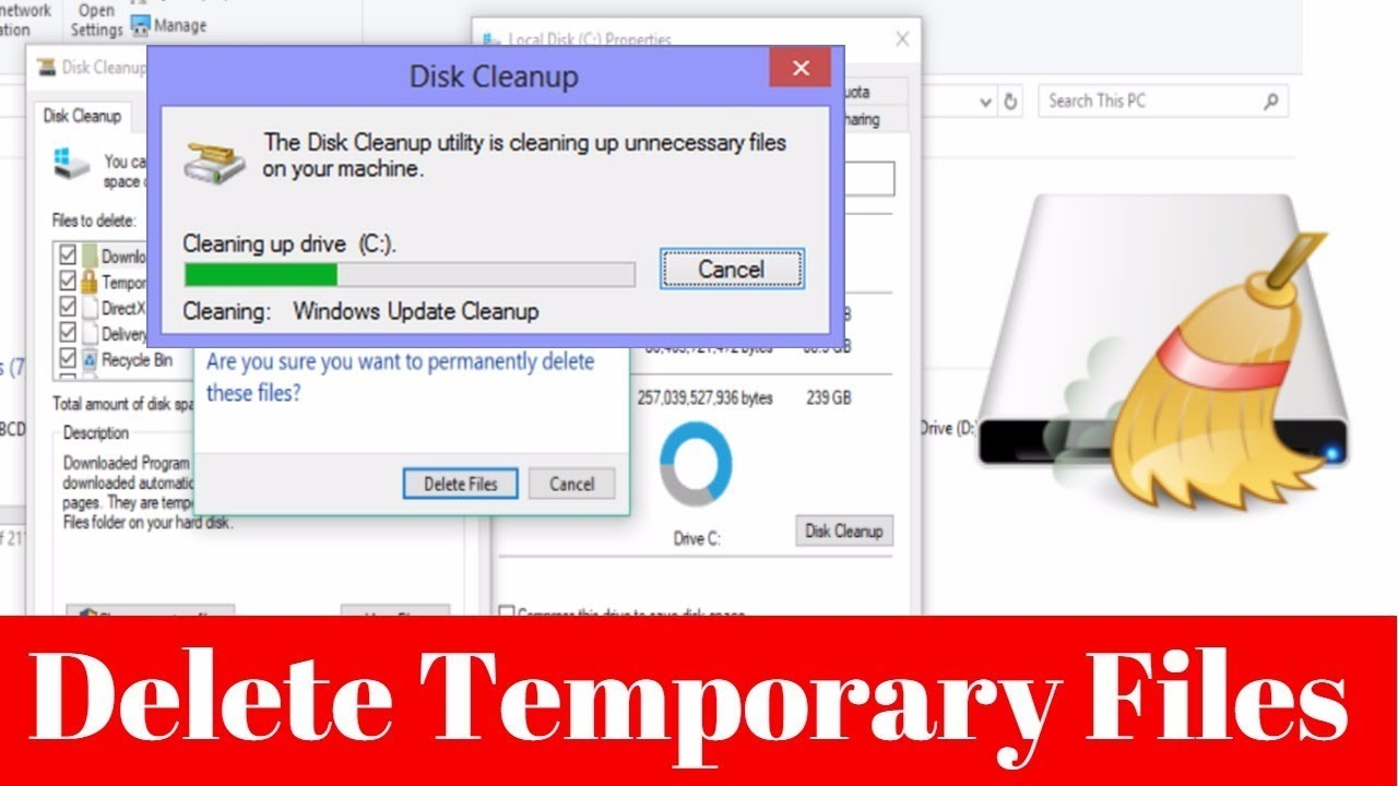 how to permanently delete temp files